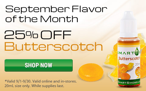 25% off the flavor of month, butterscotch