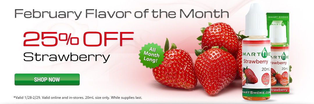 25% off Strawberry Flavor of the Month