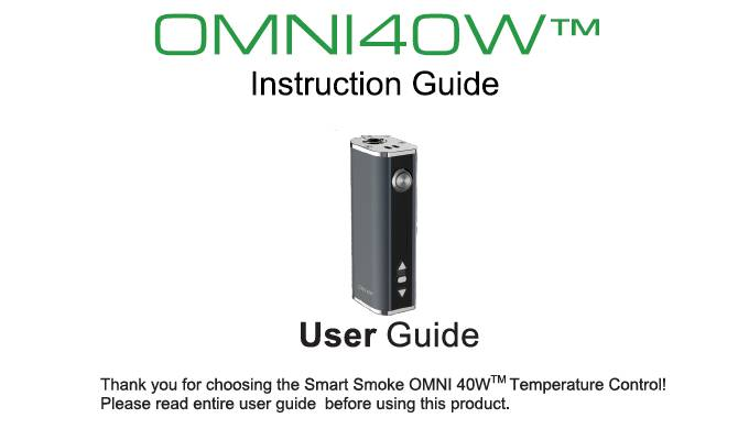 Omni40W User Guide